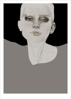 In sight - Artprint by Anna Bülow www.artbylove.no www.annabulow.com Drawing art faces