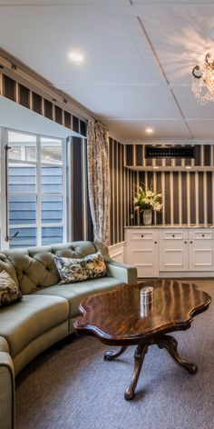 Private lounge in The Residence, The George, Christchurch NZ Luxury Accommodation, Event Venues, Restoration, Villa, Lounge, Bedroom, Building, Airport Lounge, Drawing Rooms