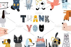 Ad: Cats&Dogs graphic collection by solmariart on Absolutely stanning graphic collection with funny and creative cats and dogs! Graphic Patterns, Cool Patterns, Cat Pattern Wallpaper, Doodle, Wall Decor Design, Dog Illustration, Cat Illustrations, Cat Mouse, Cute Cats And Dogs