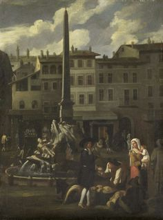 Rome (Italy), market on Piazza Navona, by Michael Sweerts (manner of), 1650-80