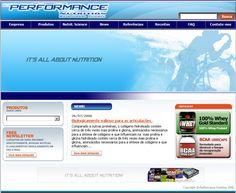 Site Institucional Performance Nutrition
