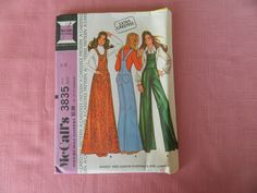 Vintage McCalls Pattern 3835 Womens Overalls Jumper Size 14 Bust 36 CUT #McCalls