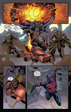 Miguel vs the Sinister Six in Spider-Man 2099 #8