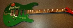 Pilsner Urquell Green World Cafe Electric Guitar In Original Box #Unbranded
