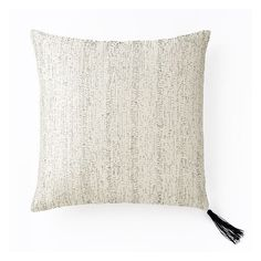 """West Elm Shadow Stitch Pillow Cover, 18""""x18"""", White ($55) ❤ liked on Polyvore featuring home, home decor, throw pillows, inspirational home decor, embroidered throw pillows, patterned throw pillows, white home decor and white throw pillows"""