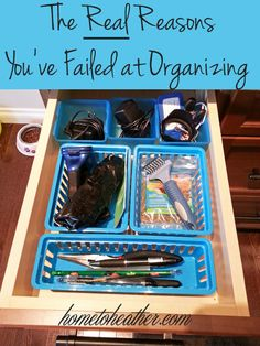 The Four Pillars of organizing will help you tackle every area of your life.  These are tips I learned from Oprah's Peter Walsh and how I applied them to my junk drawer.