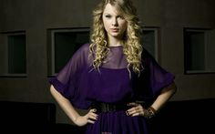 Taylor Swift At Purple Dress