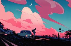 """icamebyunicorn:  """"A quick sunset and a Stevonnie.  """""""