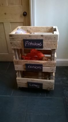 Shabby Chic Made from reclaimed Wood, Vegetable Rack ,Kitchen Storage | eBay