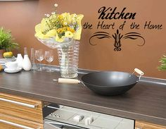 Kitchen the Heart of the Home Wall Decal by WallDecalsQuotes