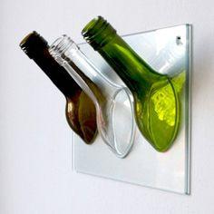 GARDEROBE - aus recycelten Weinflaschen - bunt