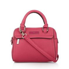 The Collection Bright pink mini bowler bag- at Debenhams.com