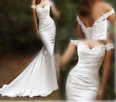 Wedding Dresses 2014  Modest Cheap Long Beach mermaid dresses Empire Custom #Unbranded #mermaid #Formal