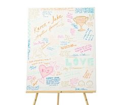 Canvas Art | Take the book out of guest book with options that double as home decoration.