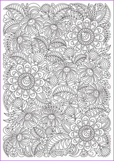 Coloring Pages For Grown Ups, Printable Adult Coloring Pages, Flower Coloring Pages, Mandala Coloring Pages, Free Coloring Pages, Coloring Books, Flower Doodles, Doodle Flowers, Doodle Coloring
