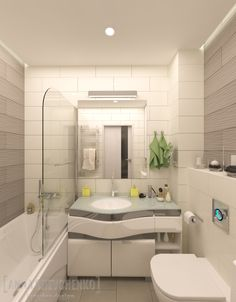 Interior design of a bathroom located in Kiev (Feofaniya project)