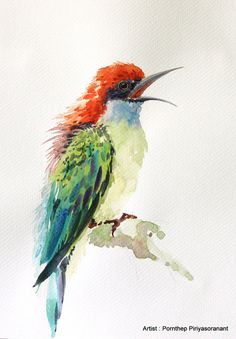 Hey, I found this really awesome Etsy listing at https://www.etsy.com/listing/226795829/bird-painting-watercolor-bird-art