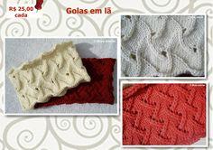 Golas em lã Tricot circular