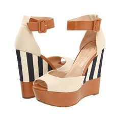 a5f709ff37f14c Bermuda Marina Yatching ❤ liked on Polyvore featuring shoes Jessica Simpson  Wedges