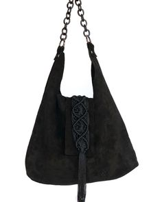 Destiny black suede hobo bag Hobo Bag, Italian Leather, Destiny, Black Suede, Shopping Bag, Urban, Queen, Handmade, Bags