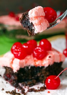"""<p><a href=""""http://www.theslowroasteditalian.com/2015/06/outrageous-cherry-dr-pepper-cake-recipe.html"""" target=""""_blank""""><strong>Outrageous Cherry Dr Pepper Cake</strong></a> is a incredibly flavorful cake with just 5 ingredients. From top to bottom, this recipe takes just 5 ingredients and it is perhaps the easiest and tastiest cake ever. The rich, decadent and perfectly tender cake melts in your mouth. Topped with homemade maraschino cherry frosting is it truly a flavor explosion. And it is…"""