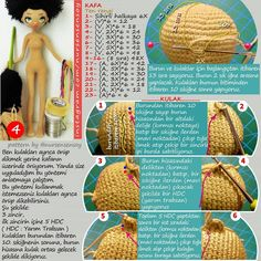 Amigurumi pupa the mulatto crochet 5 amigurumi crochet mulattoThis Pin was discovered by Ane Crochet Dolls Free Patterns, Crochet Doll Pattern, Amigurumi Patterns, Amigurumi Doll, Doll Patterns, Crochet Toys, Doll Crafts, Diy Doll, Crochet Videos