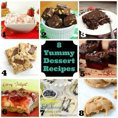 8 Yummy Dessert Recipes // Dessert Recipe Roundup
