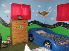 for Ethan's 'big boy' room and perfect for his car bed too! Now if only I can get him to sleep in it...