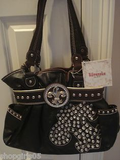 NEW !! BEAUTIFUL FLEUR DE LIS RHINESTONE  PURSE.  HAS ZIP TOP CLOSURE.  MEASURES APPROX. 14 INCHES WIDE BY 10 INCHES TALL AND 4 INCHES DEEP. REALLY PRETTY!!!!