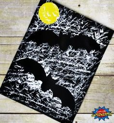 how to make a bat tacular bat silhouette craft for kids halloween crafts for kindergartenhalloween