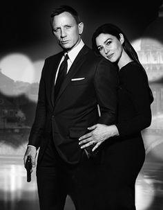Monica Bellucci & Daniel Craig - James Bond movie 2015