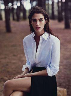 white shirt black skirt