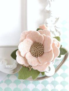 Felt Flower Crown. Ballet Blush Dainty Floral Headband.