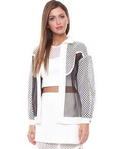 Alexander Wang eat your heart out...this mesh sheer bomber by Cameo is amazing!