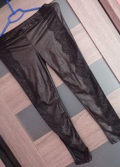 Kup mój przedmiot na #vintedpl http://www.vinted.pl/damska-odziez/legginsy/11244758-nowe-lateksowe-legginsy-z-koronka