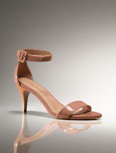 Talbots - Lakia Patent Leather Mid-Heel Anklestrap Sandal | Heels | Medium