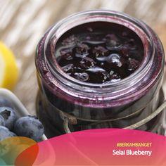 Topping Selai Blueberry.  #BerkahBanget