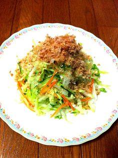 ゆきちゃんの白菜と長芋のサラダ 作りました! 美味しかった✨ 長芋が良い仕事してる! +。:.゚٩(๑>◡<๑)۶:.。+゚ - 47件のもぐもぐ - yuki610さんの白菜と長芋の和風サラダ by masamiho