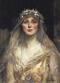 James Jebusa Shannon - Portrait of a Bride