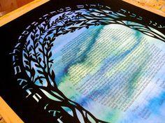 Olive Trees Ketubah by jerise on Etsy