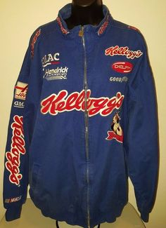 Chase Authentics Unisex Multi Color Kellogg's Racing Team Jacket Size XXL #Chase #Kelloggs