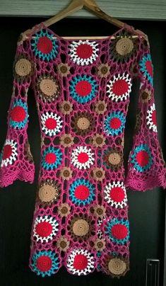 Crochet Motif, Crochet Top, Baby Dress Patterns, Kurti Neck Designs, Crochet Fashion, Crotchet, Fashion Addict, Boho Dress, Knitting