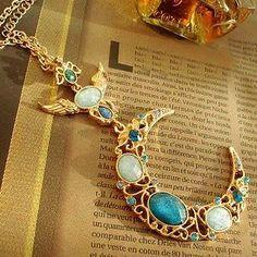 M1 Gem Retro Goddess Sailor Moon Angel Wing Necklace Pendant Wedding Jewel | eBay
