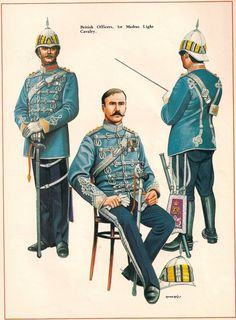 British Officer 1st Madras Light Cavalry c 1890(?) by Chris Rothero. Originally published in Military Modelling Magazine