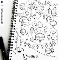 I've died and gone to #lantern heaven. How bad do you want to take out your favorite markers and color these?. ・・・ #tbt to a page full of lanterns.. A drawing from last year  @__apsi__.. #TRG_RandomDoodle ❤ . . . . . . . . . . . #doodle #doodleaday #howtodoodle #howtodraw #feather #dreamcatcher  #cute #kawaii  #study #studyblr #studytime #studygram  #studyspo #studyinspiration  #planner  #handletteredabcs  #plannercommunity #plannergirl  #plannerdoodle #bulletjournal #bujo #showmeyourplanner