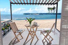 SAM® Teak Holz Balkonset 3tlg. Romario 60 x 60 cm