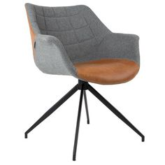 Zuiver Doulton armchair is so classy we can't decide if it is a dining chair, an office chair or a modern armchair. We combined fabric and PU-leather Room Chairs, Dining Chairs, Cool Furniture, Furniture Design, Dinner Room, Single Chair, Soft Seating, Modern Armchair, Chair Design