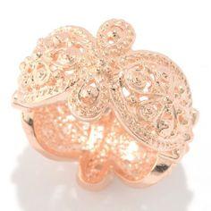 Jaipur Jewelry Bazaar™ Floral Milgrain Scalloped Edge Eternity Band Ring