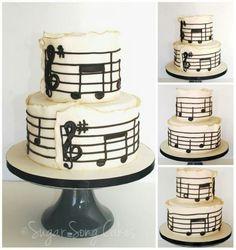 Music Cake. Love, love, love it!
