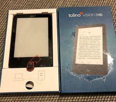 Verkaufe hier meinen Tolino Vision 3 HD.Der Reader ist neuwertig. Wurde nur einmal aufgemacht und getestet.Leider ist sowas doch nicht mein Ding, darum Verkaufe ich diesen wieder.Ist sogar noch ein 5€ Gutschein dabei.